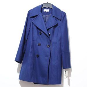 Anne Klein Wool Navy Coat